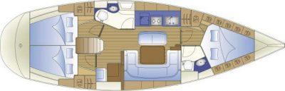 Bavaria 40 - 2013 - Honey S layout