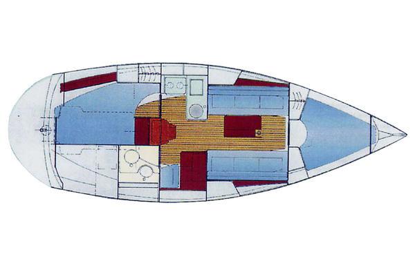 Ionian Flotilla Bavaria 32 2005 model lay out