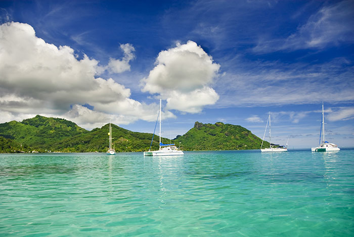 Catamarans in Polynesia