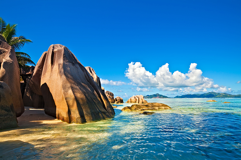 Seychelles rocks and beach