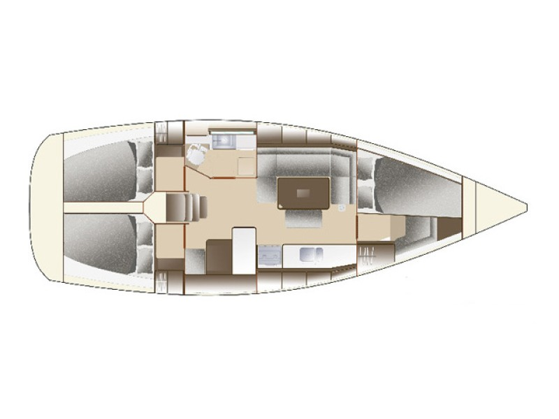 Dufour 375 layout