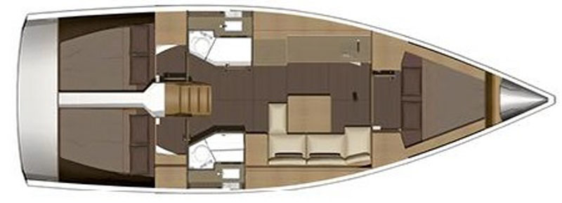 Dufour 382 layout