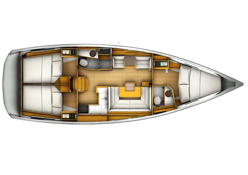 Sun Odyssey 409 layout