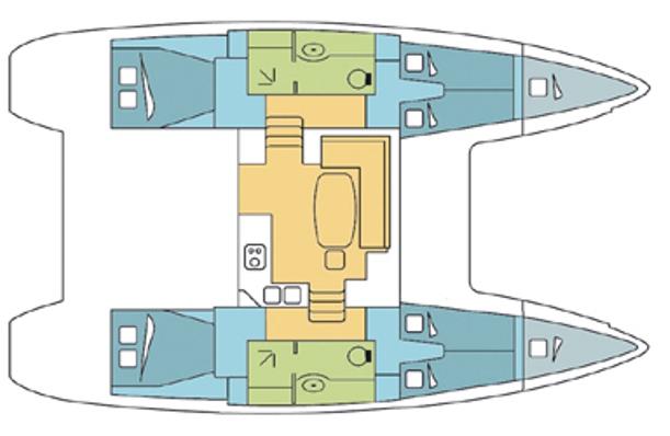 Lagoon 400 layout