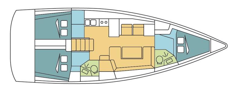 Oceanis 41 layout