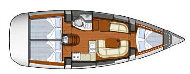 Sun Odyssey 36i layout