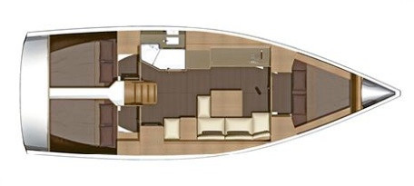 Dufour 382 Grand Large Layout
