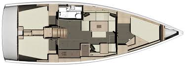 Dufour 412 Grand Large Layout