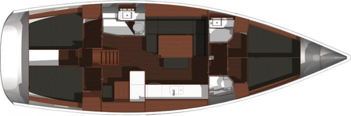 Dufour 450 Liberty Layout