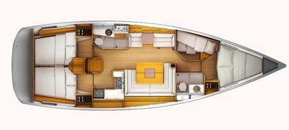 sun-odyssey-439-layout