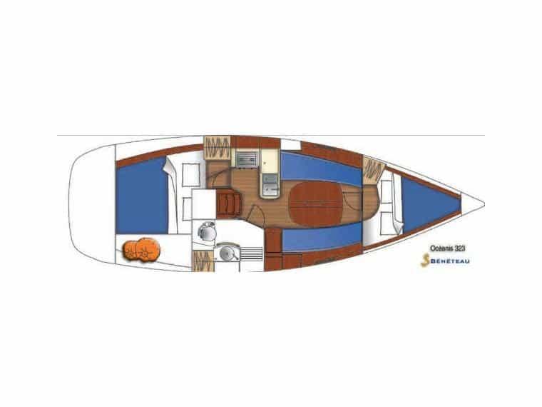Oceanis 323 Layout