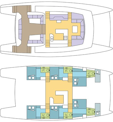 Dream 60 catamaran layout