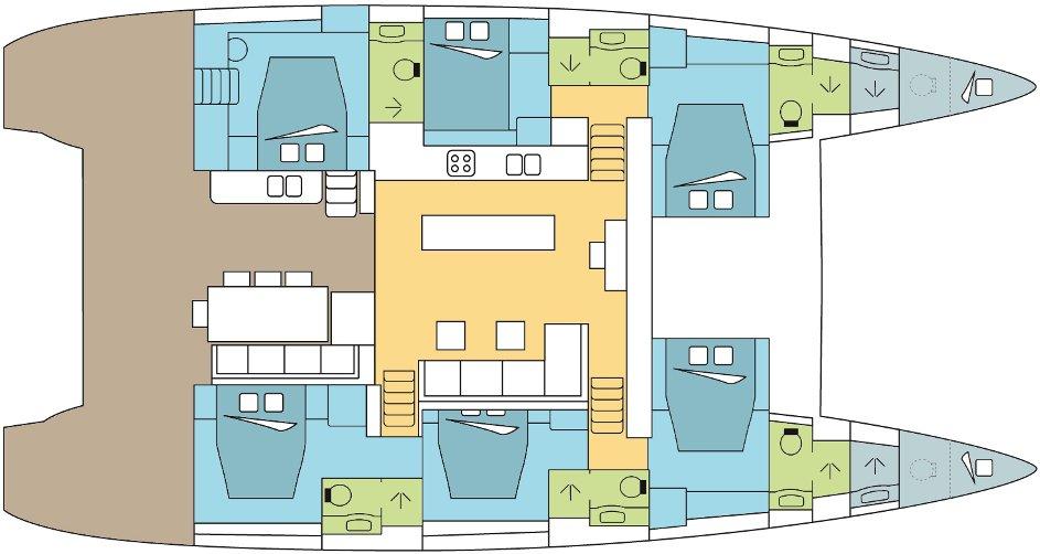 Lagoon 620 layout