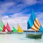 Mauritius colourful Boats