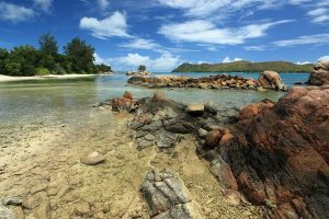 Seychelles rocks and water
