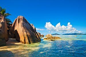 Seychelles rocks and beach