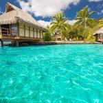 Water bungalows in Tahiti