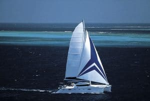 Sailing in Maldives