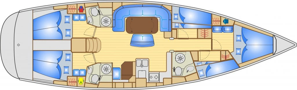 Bavaria 50 Layout