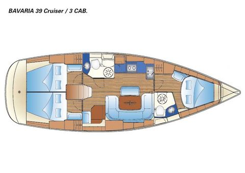 Bavaria 39 Layout