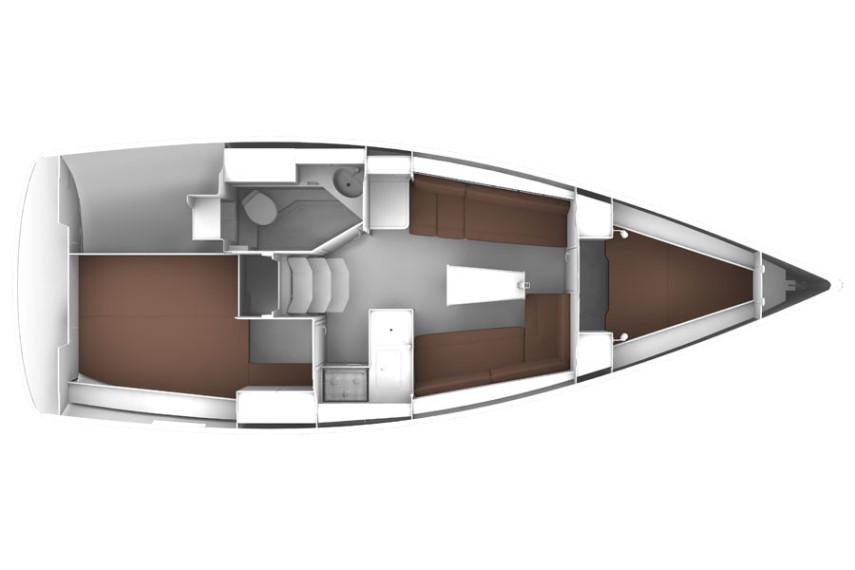 Bavaria 33 cruiser layout
