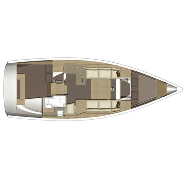 Dufour 350 2c-1h layout
