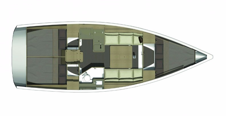 Dufour 350 layout