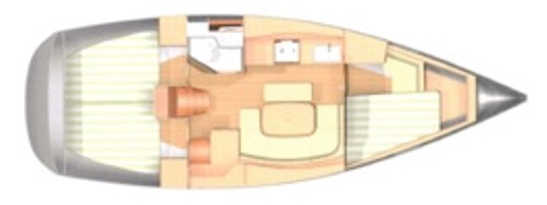 Dufour 365 layout