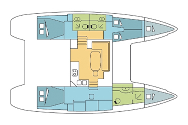 Lagoon 400 owner version layout