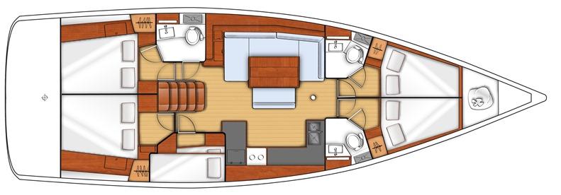 Oceanis 48 layout