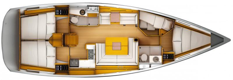 Sun Odyssey 449 layout