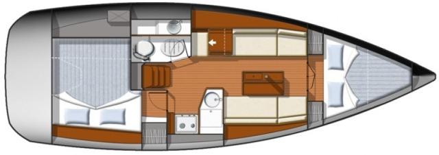 sun-odyssey-33i-layout