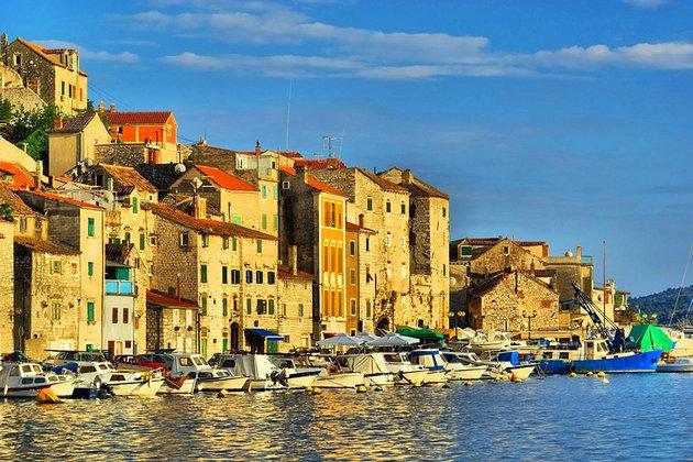 Croatia Sibenik Harbor
