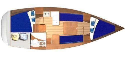 Dufour 325 layout