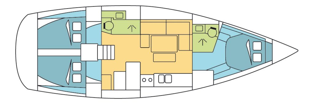 Dufour 405 Grand Large Layout