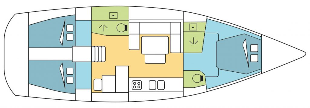 Dufour 445 Layout