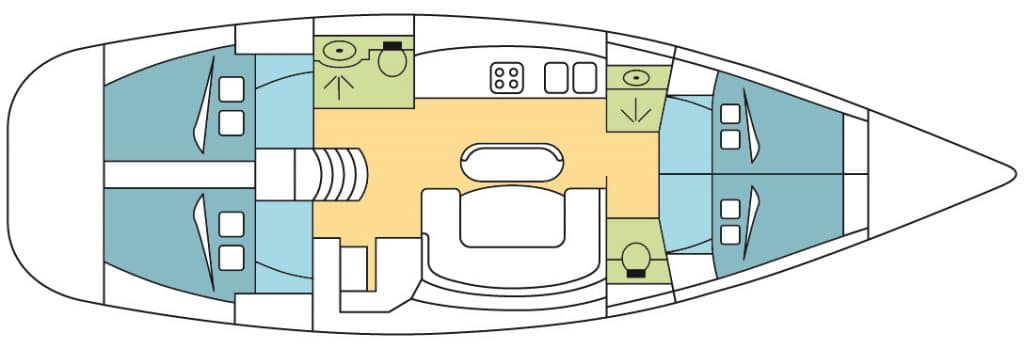 Dufour 455 layout