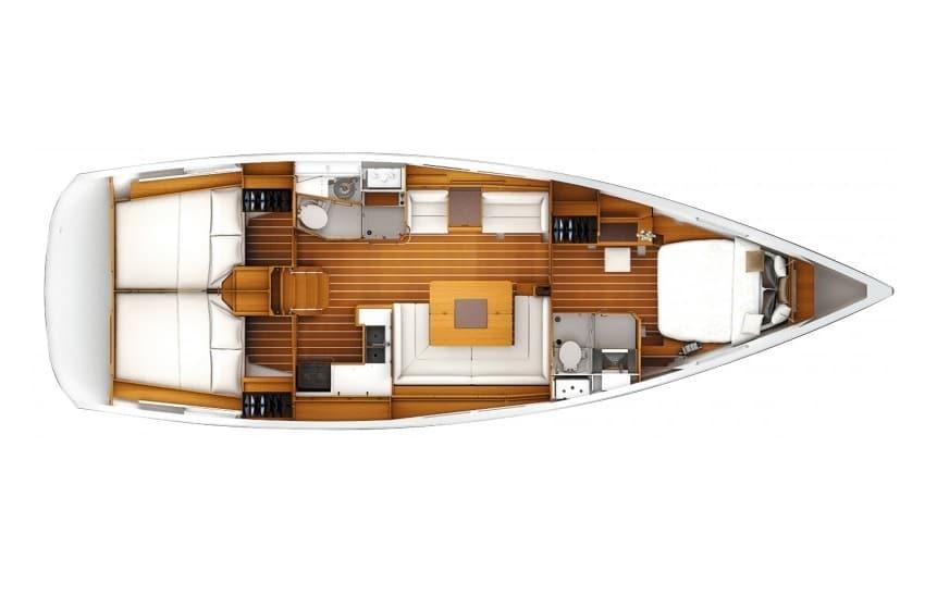 Sun Odyssey 439 layout