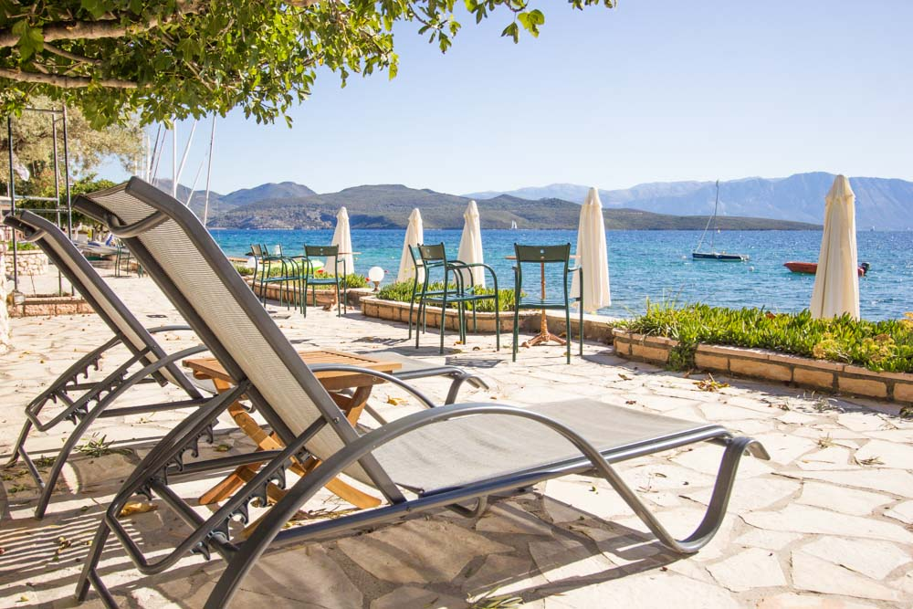 Sun-loungers at Nikiana Beach Club