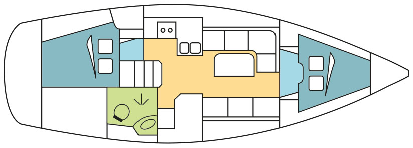 Bavaria 34 layout