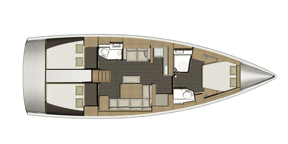 Dufour 460 layout