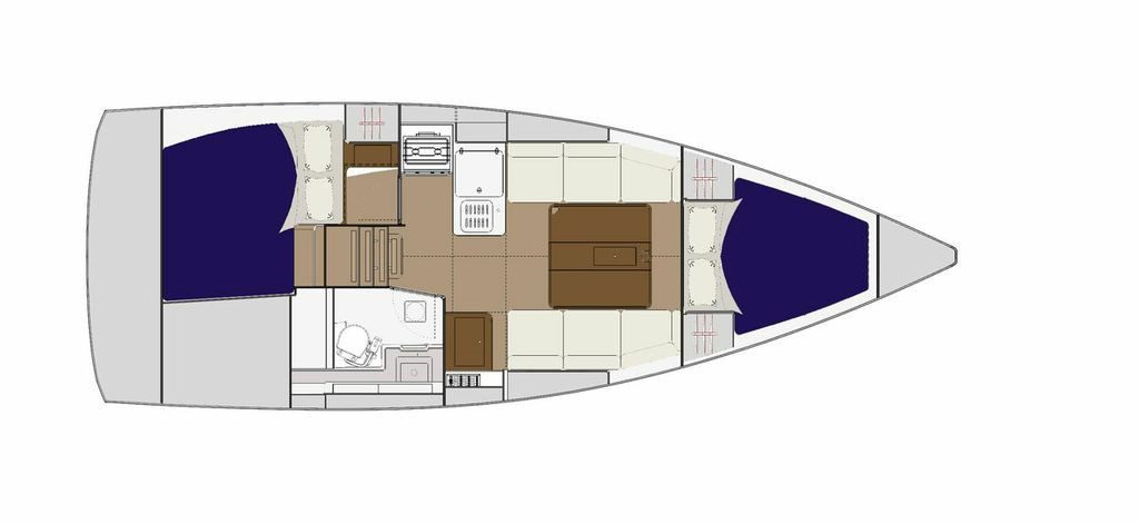 Dufour 310 GL Liberty layout