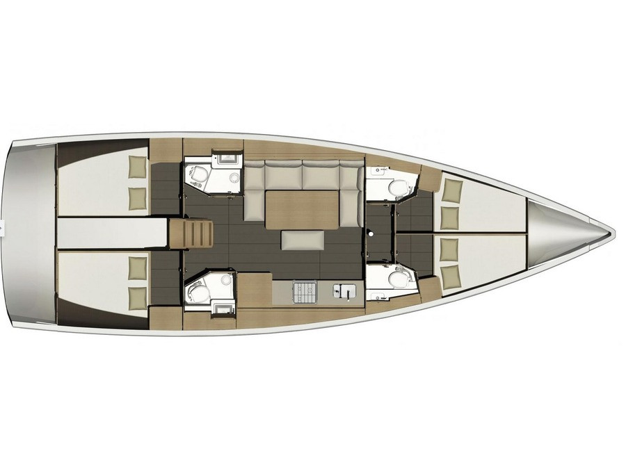 Dufour 460 GL Liberty layout