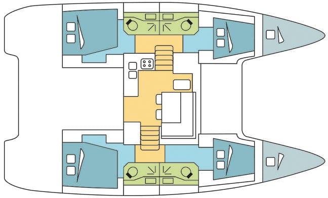 Lagoon 400 floor plan
