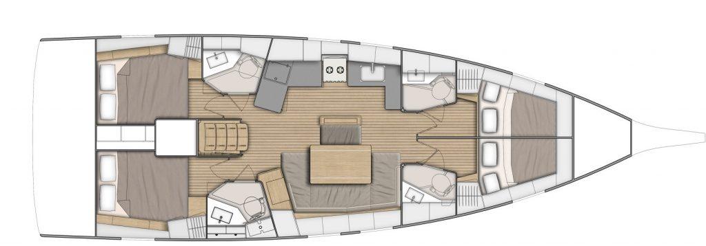 Oceanis 46.1 layout
