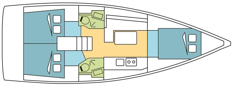 Oceanis 38.1 layout
