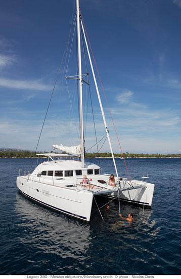 Lagoon 380 at anchor