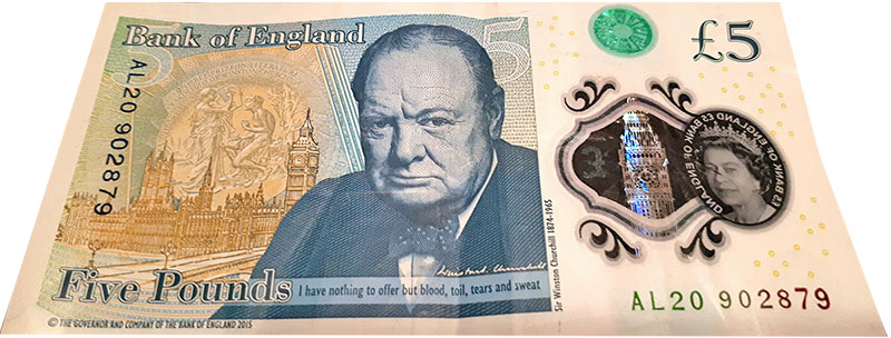 Five Pound Note 800