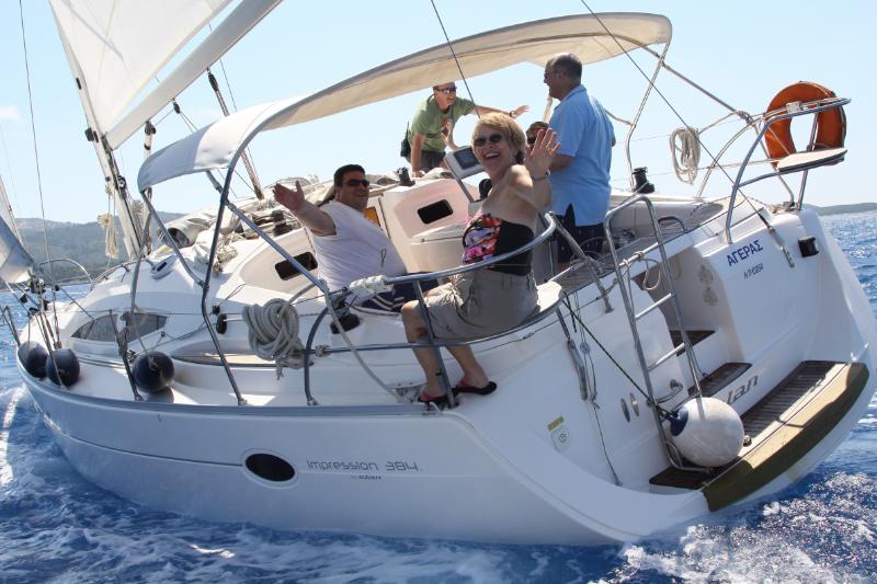 Elan 384 sailing